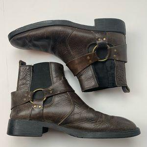 Bed Stu Brown Distressed Biker Harness Boots Sz 12